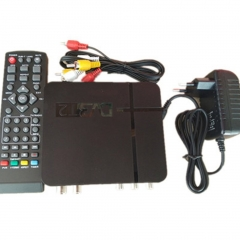 Mini HD DVB-T2 Digital Terrestrial Receiver Set-top Box Compatible with DVB-T H.264 black one size