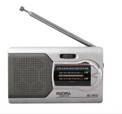 Universal Silver Slim AM/FM Mini Radio Stereo Music Speakers Receiver