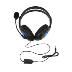 Wired Gaming Headset Headphones with Microphone for Sony PS4 PlayStation 4 black