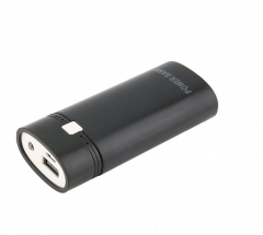 Portable USB Power Bank Case DIY Kit 18650 Mobile Battery Cell Phone Charger black one  size