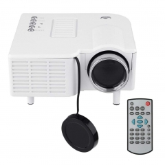 PRO HDMI Portable Mini LED Entertainment Projector Home Cinema Theater white/ US plug
