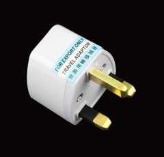 White Universal EU / USA / Australia to UK AC Power Travel Plug Adapter Socket white