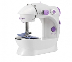 Multifunction Electric Mini Sewing Machine Household Desktop With LED white