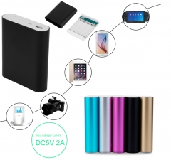 10400mAh USB External Backup Battery Charger 4*18650 Battery Power Bank Case black 10400