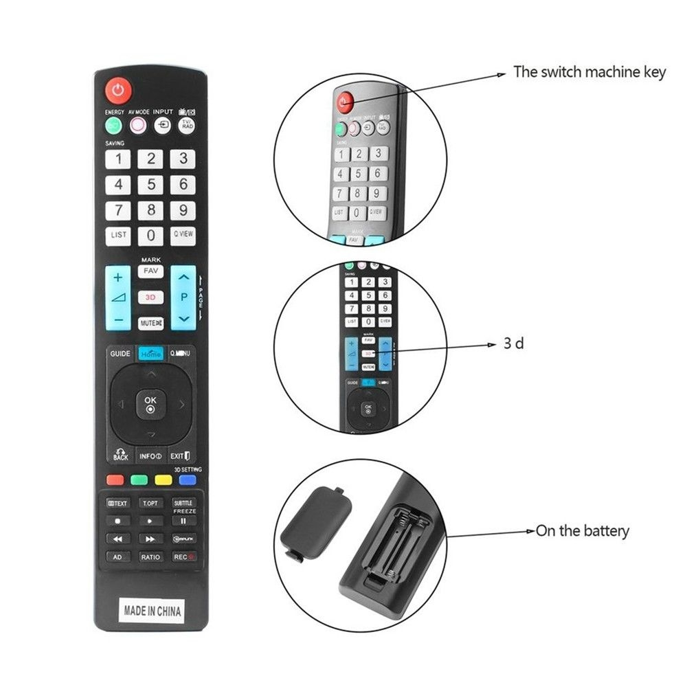 Universal Remote Control For LG Smart 3D LED LCD HDTV TV Great Replacement  black nomal