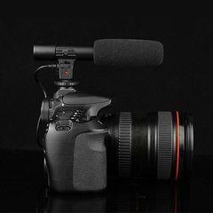 MIC-01 3.5mm Studio Digital Video DV Camera Stereo Recording Microphones black normal