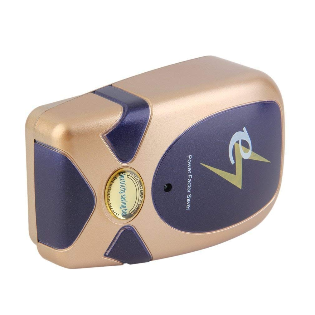 EU//US//UK Plug Gold Power Factor Saver Electricity Energy Saving Box Devices