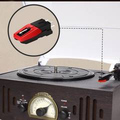 Turntable Phono Cartridge with Stylus Replacement for Vinyl Record Player black