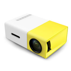 YG300 Professional Mini Projector Full HD1080P Home Theater LED Projector LCD yellow and white UK