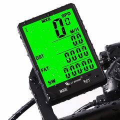 Wireless LCD Bike Computer Odometer Speedometer Cycle Bicycle Waterproof black