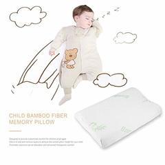 Adjustable bamboo Fiber Children Contour Memory Foam For Neck Shoulder Support white one size