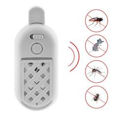 Ultrasonic Electronic Mosquito Repeller 5V 2A Indoor Mosquito Rodent Repellent white one size