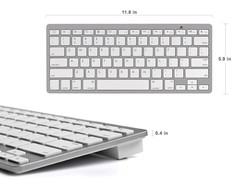 Ultra-Slim Wireless Bluetooth Keyboard For Android for Windows for iOS white 5*6*7