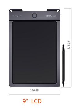 Kids Tablet Digital Writing Board toys for 2018 black