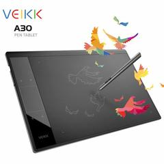 Graphics Drawing Tablet VEIKK A30 10x6 Inch with 8192 Levels Battery-Free Passive Pen black