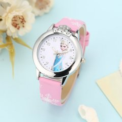 Cartoon Children Watches Fashion Students Quartz Wristwatch with Small Dial Pink One