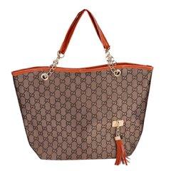 PU Leather Lady Handbag Women Shoulder Bag Tassel Handbag Female Satchel brown