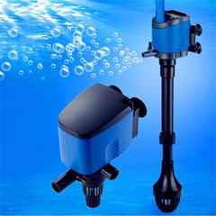 3 in 1 Multifunction Aquarium Filter Filtration Oxygenation Air Water Pump blue ZY-B2