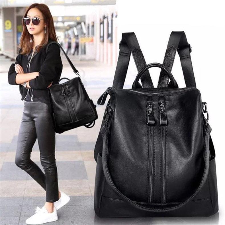 59c85c2d48 Fashion Women Backpack High Quality Leather Backpacks for Teenage Girls  Female School Shoulder Bag Black R.D.S  Product No  1661964. Item  specifics  Brand