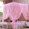 Flash sale Quadrate Mosquito Net Palace Net Lace Bed Netting with Three-Door Bed Net pink 5*6