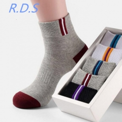 5 Pair Mens Short Socks Men Ankle Socks Skatebord Ankle Absorb Sweat Socks Sports Socks picture 5 pair mix