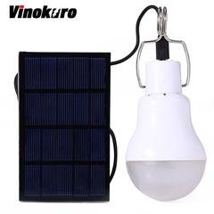 LED Solar Light Power Energy Garden Lamp Indoor Waterproof Panel Plastic Bulb White 2.8m 1W