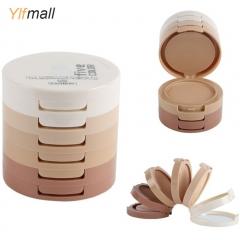 5 Colors Smooth Makeup Contour Face Foundation Powder Cream Concealer Palette 5 Colors