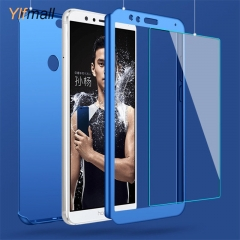 Huawei Y7 Prime 2018/P Smart/Mate 10 360 Degree Full Body Protection Hard Case with Screen Protector blue p smart
