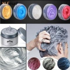 Light Gray Hair Cream Color Easy Temporary DIY Super Dye white 120g