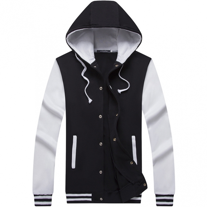 fe962db442 Men Hoodie Men's Baseball Wear Casual Vacation Sports Party Hooded Jacket  White xl