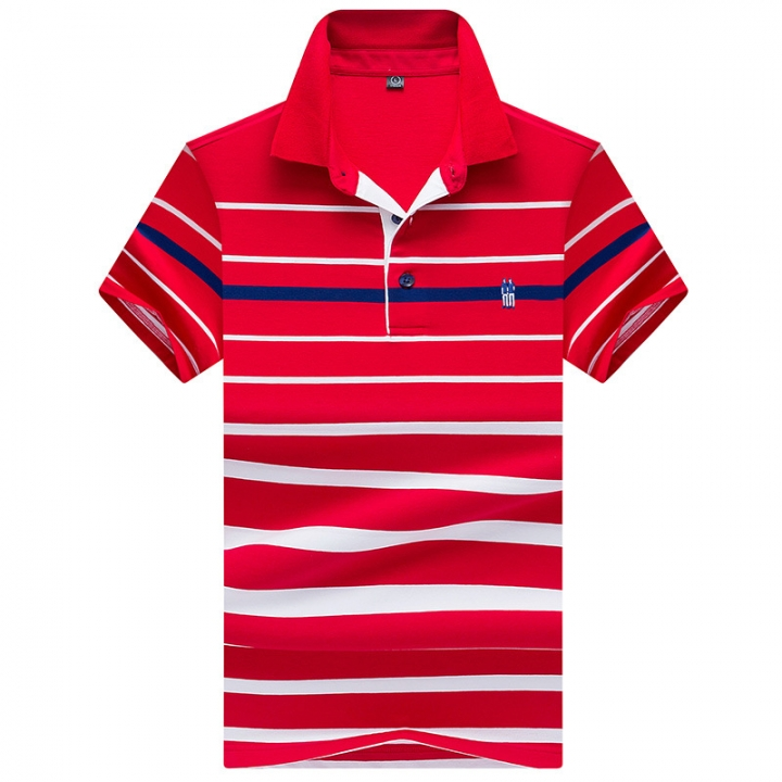 8b697012f9a Kilimall  Men s Polo Shirt New Summer Stripe Polo Men s Business ...