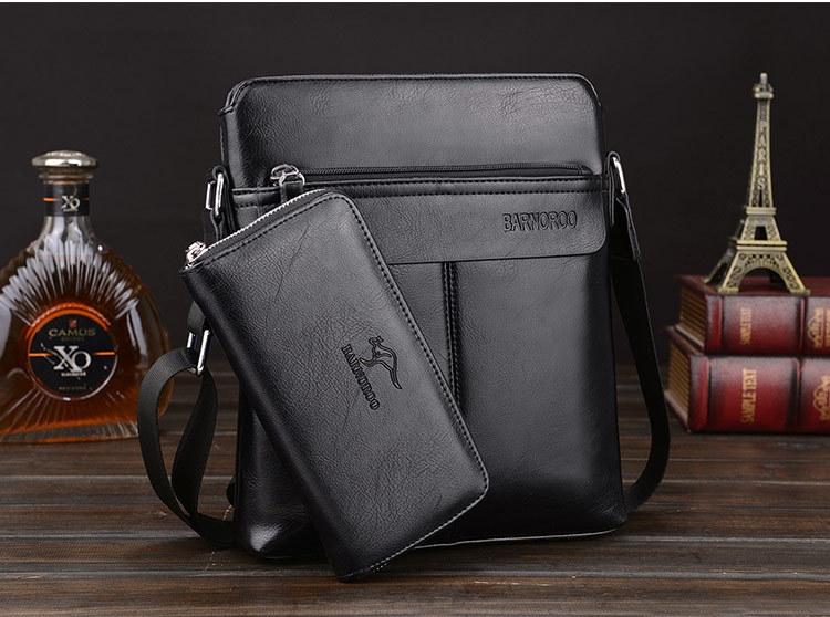 6ef789c394 Men s leather bag Shoulder bag Men s business Messenger bag Men s ...