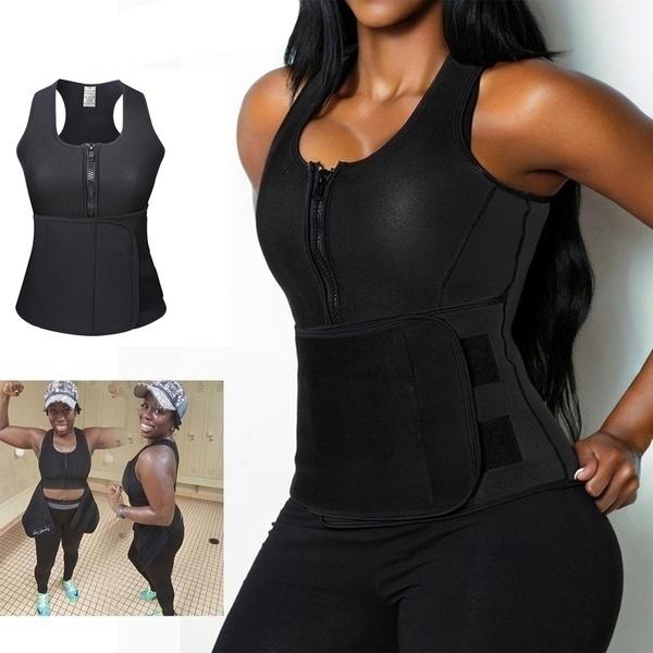 62f538e472 Women s Fashion Sweat Neoprene Sauna Waist Trainer Vest Hot Shaper ...