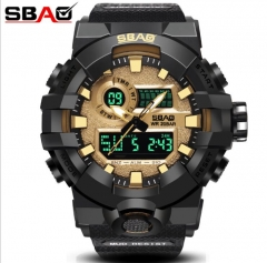 M&J Curren quartz Black Vogue Business Military Man Men's watches 3ATM waterproof  sport watch style 1 normal