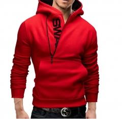 M&J Hoodie Oblique Zipper Hoodies Men Fashion Tracksuit Male Sweatshirt  Fashion Streetwears red m