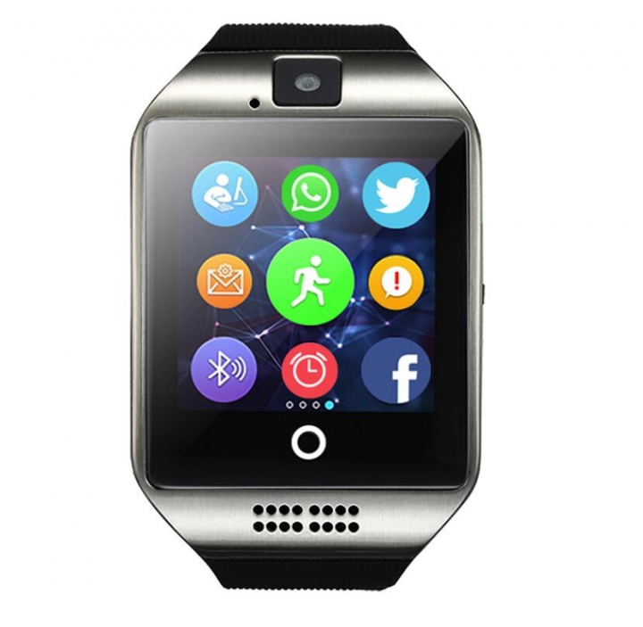 Q18 Smart Watch With Touch Screen Camera Support TF Card Bluetooth Smartwatch For Android IOS Phone Silver One size