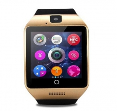 Q18 Smart Watch With Touch Screen Camera Support TF Card Bluetooth Smartwatch For Android IOS Phone Gold One size