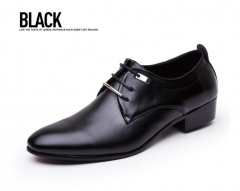 Men Flats Leather Shoes Brogue Pointed Oxford Flat Male Casual Wedding Shoes Mens Luxury Brand black 38 leather