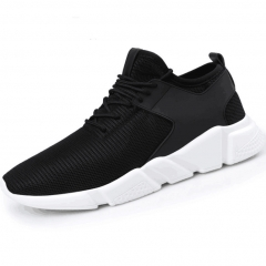 Mens Sneakers  Mesh Breathable Sports Shoes Men Jogging Shoes for Adualts Black&White 40