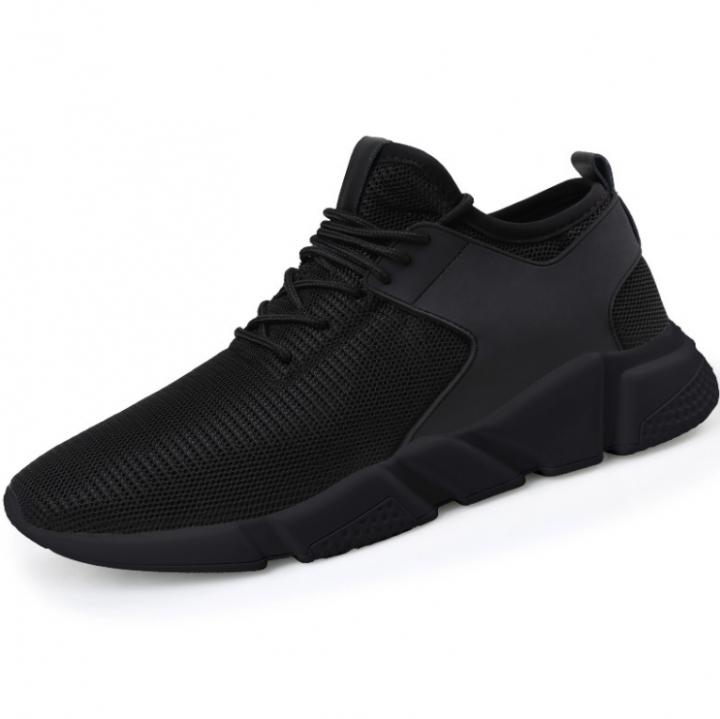 Mens Sneakers  Mesh Breathable Sports Shoes Men Jogging Shoes for Adualts Black 39