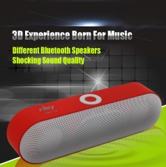 New NBY-18 Mini Bluetooth Speaker  Wireless Speaker Sound System 3D Stereo Music Surround Subwoofer red 10W NBY-18