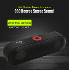 New NBY-18 Mini Bluetooth Speaker  Wireless Speaker Sound System 3D Stereo Music Surround Subwoofer black 10W NBY-18