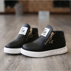 Fashion Baby Classy Ankle Boots  Kids Boys Girls Autumn Casual Shoes Sneakers Black 35