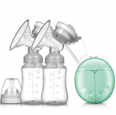 Double Side Electric Breast Pump Baby Milk Nipple Suction Breast Feeding With Milk Bottle Suckers Blue one size