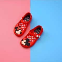 Mini Melissa  kids Jelly Shoes Girls Boys Waterproof Sandals Cartoon Mickey  Little Girl Sandals 01 26