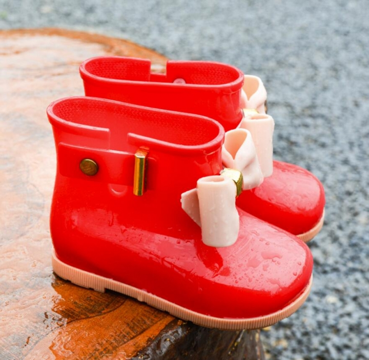 0e4efc99e384 Kilimall  Children Boots Girls Rainboots bowknot Jelly Shoes Boys ...