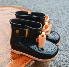 Children Boots Girls Rainboots bowknot Jelly Shoes Boys Rain Boots Short Water Shoes Children Boots 01 24