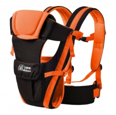 2-30Months Breathable Front Facing Baby Carrier 4in1 Infant Sling Backpack Orange 2-30months
