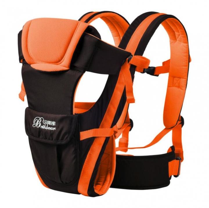 2-30Months Breathable Front Facing Baby Carrier 4in1 Infant Sling Backpack Orange 2-30months