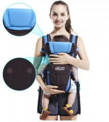 2-30Months Breathable Front Facing Baby Carrier 4in1 Infant Sling Backpack Blue 2-30months